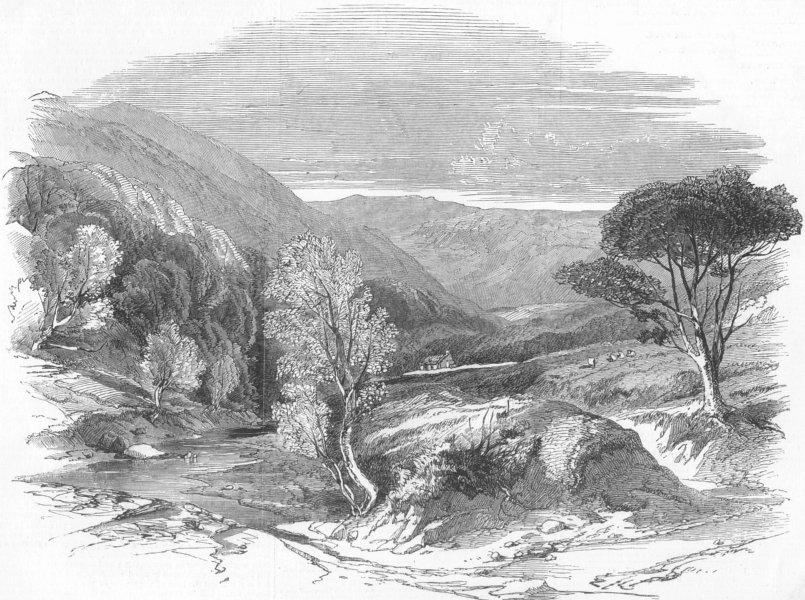 Associate Product SCOTLAND. Glen Tilt, near the Marble Lodge, antique print, 1850