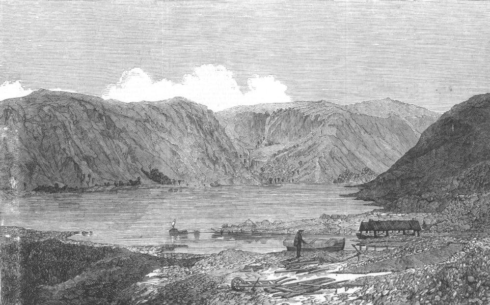 Associate Product SCOTLAND. Loch Muick, antique print, 1850
