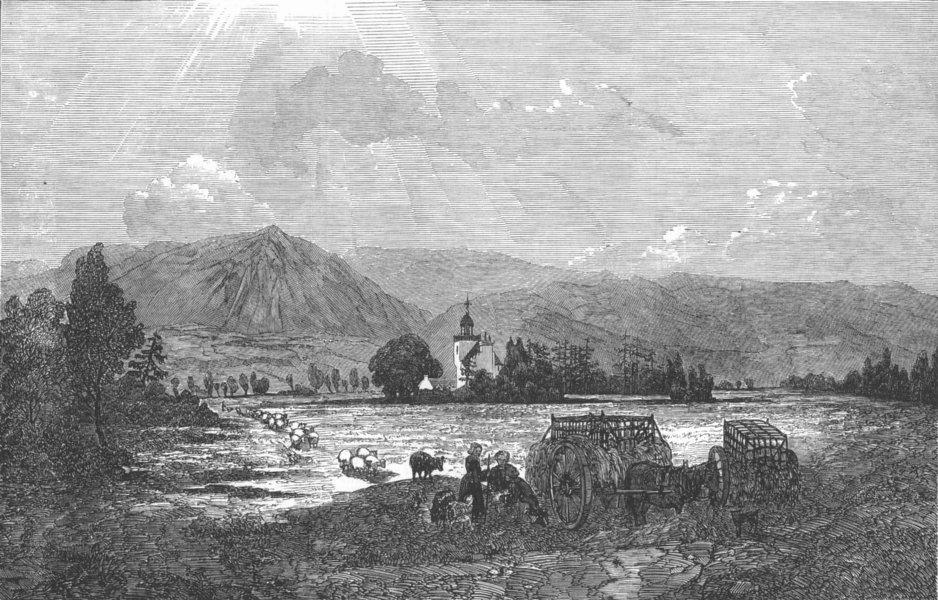 Associate Product SCOTLAND. Abergeldie Castle, antique print, 1850