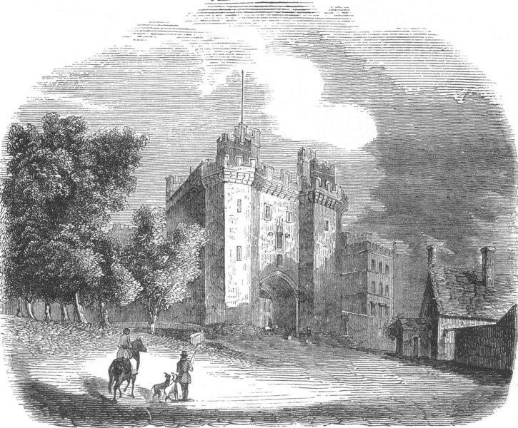 Associate Product LANCS. Lancaster Castle, antique print, 1850