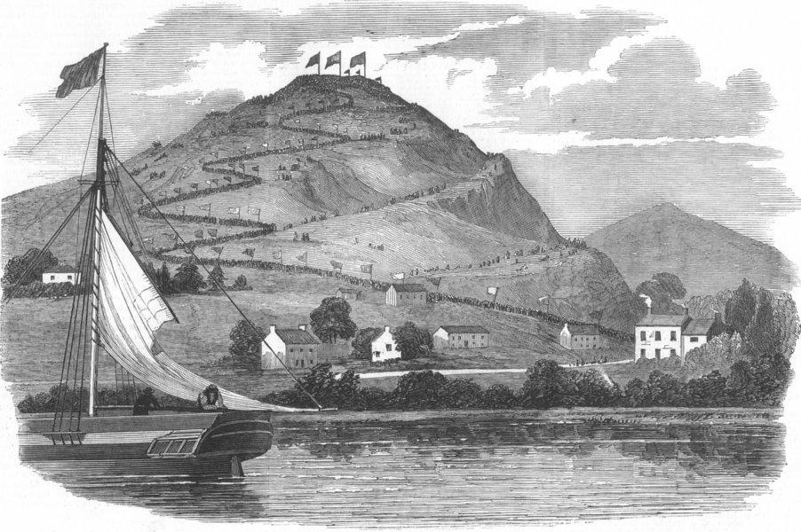 Associate Product CUMBS. parade up Hoad Hill, memorial, antique print, 1850