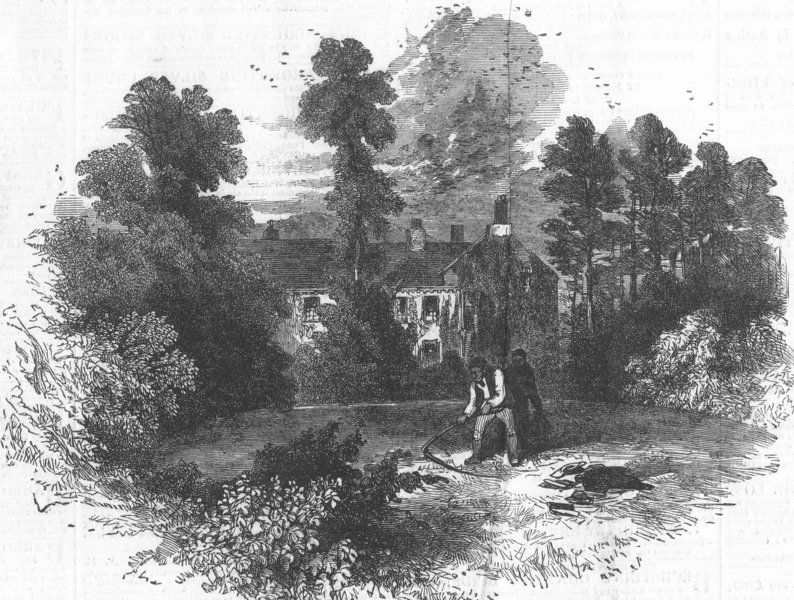 Associate Product CUMBS. Rydal Mount, the residence of Mr Wordsworth, antique print, 1850