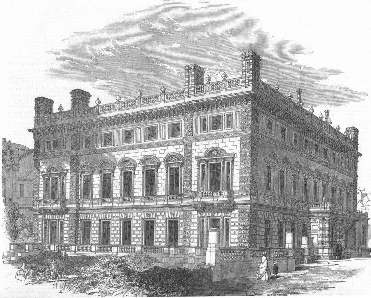 Associate Product LONDON. Bridgewater House-Architect, Charles Barry, , antique print, 1850