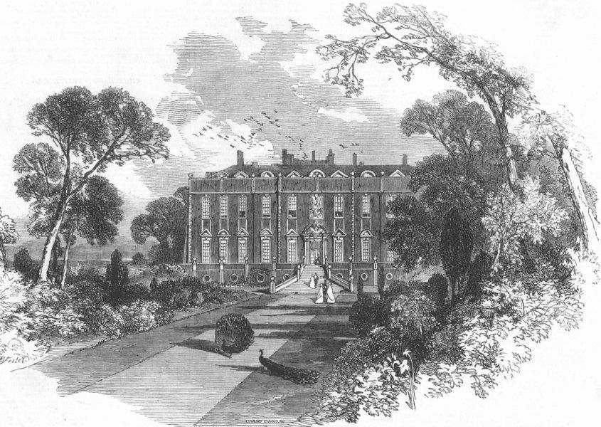 Associate Product LANCS. Earl of Sefton's Croxteth Park, Liverpool, antique print, 1851