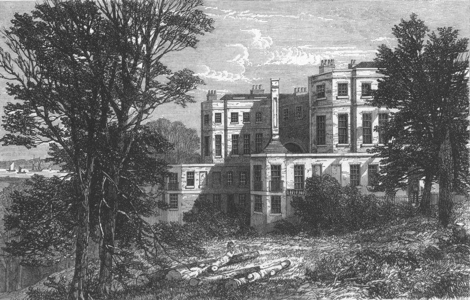 Associate Product KENT. merchant Seamens Hospital, Belvedere, Kent, antique print, 1868