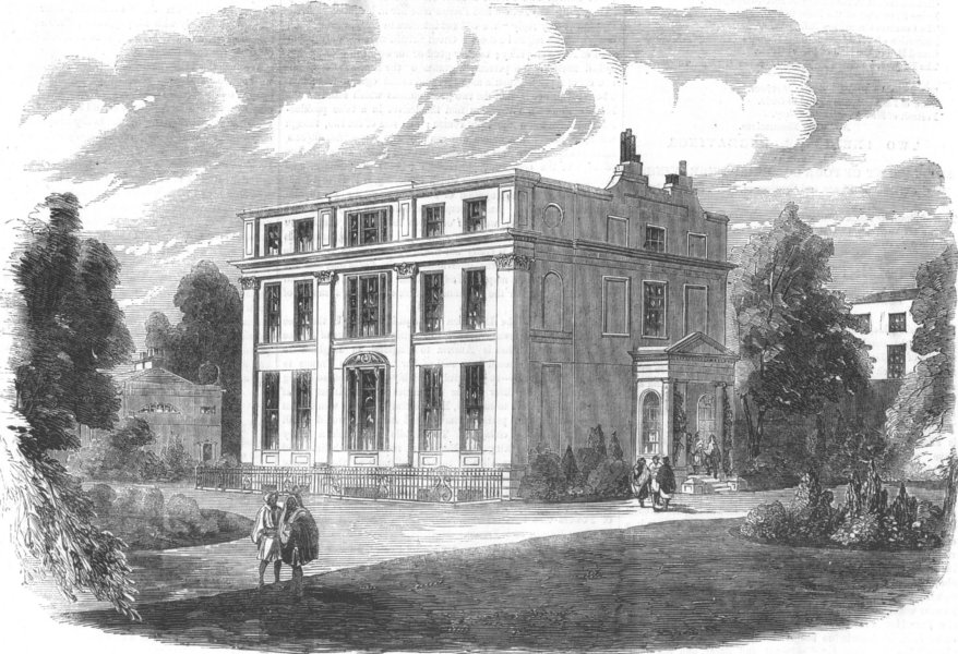 Associate Product LONDON. Harley House, New Rd, House of Queen of Awadh, antique print, 1856