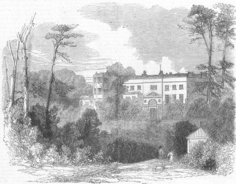 Associate Product LONDON. Soldiers Infant Home, Roslyn Park, Hampstead, antique print, 1855