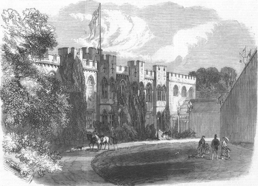 Associate Product WALES. Cardiff Castle, antique print, 1868