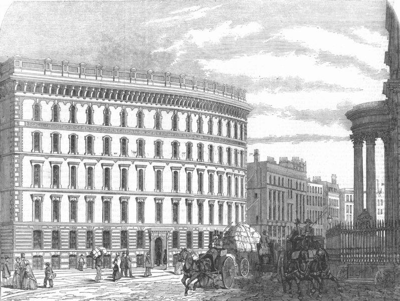Associate Product LONDON. Cook & cos warehouse, St Pauls-Churchyard, antique print, 1854