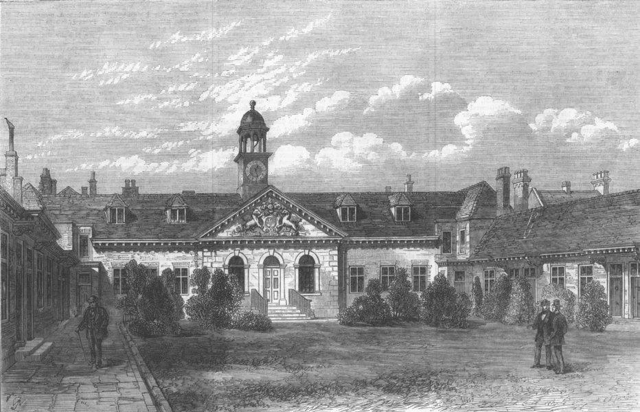 Associate Product LONDON. Emmanuel Hospital, Westminster, antique print, 1868