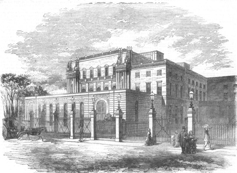 Associate Product LONDON. new ball-room, Buckingham Palace, antique print, 1856