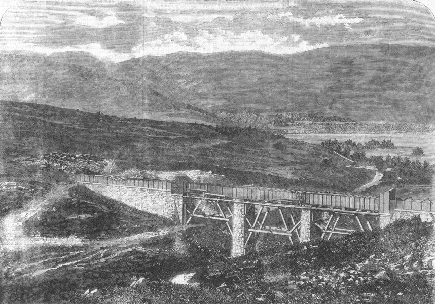 Associate Product SCOTLAND. Aqueduct at Culegarton, near Loch Ard, antique print, 1859