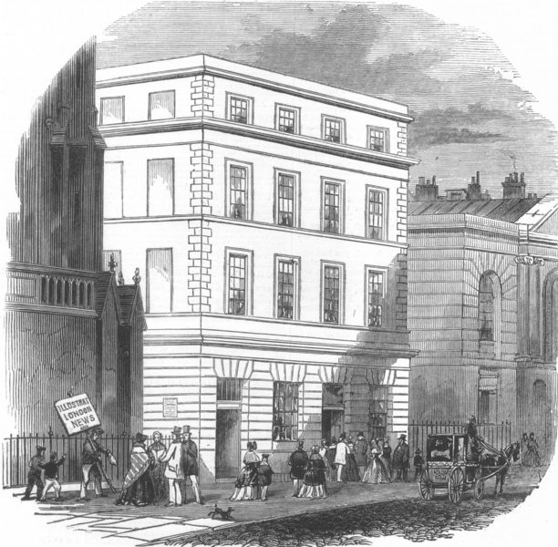 Associate Product SECULAR BUILDINGS. New money-order office, antique print, 1846