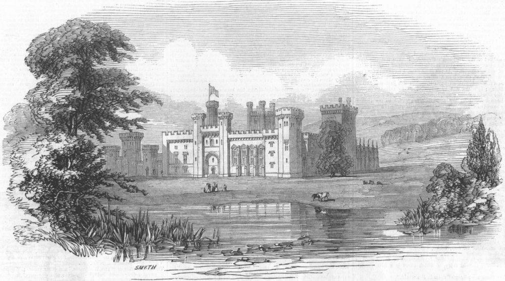 Associate Product DURHAM. Ravensworth Castle, antique print, 1846