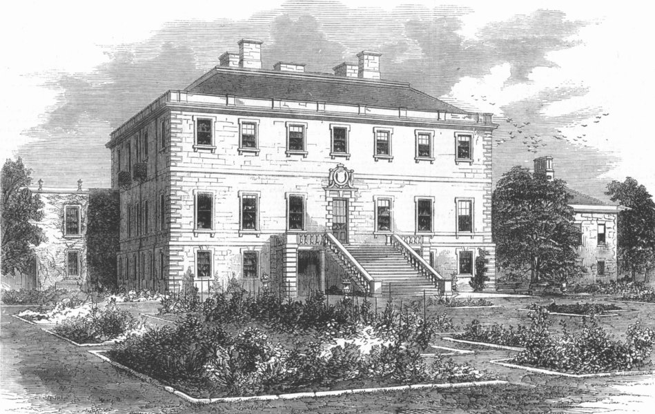 Associate Product SCOTLAND. Haddo House, seat of Earl of Aberdeen, antique print, 1857