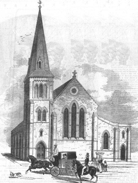 Associate Product LONDON. Church for seamen of Port of London, Dock St, antique print, 1846
