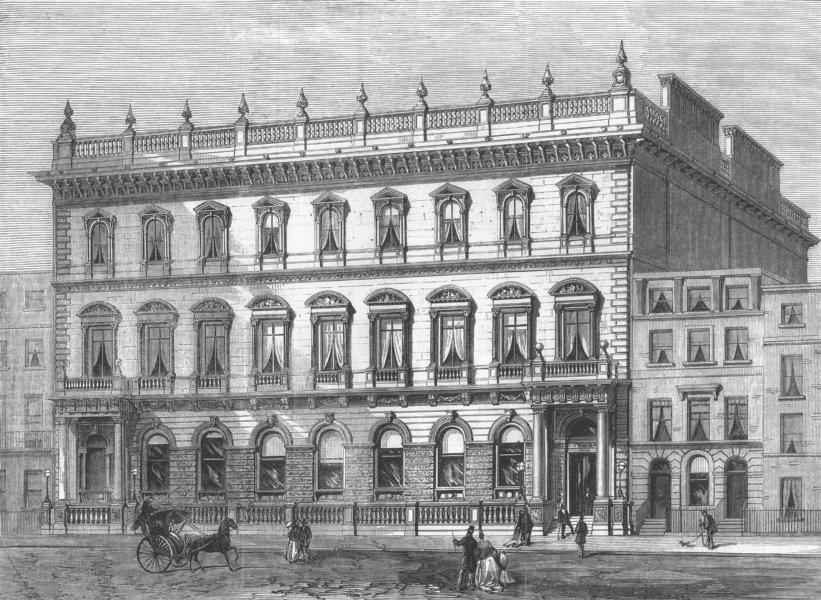 Associate Product LONDON. The Junior Carlton Club, Pall-Mall, antique print, 1868