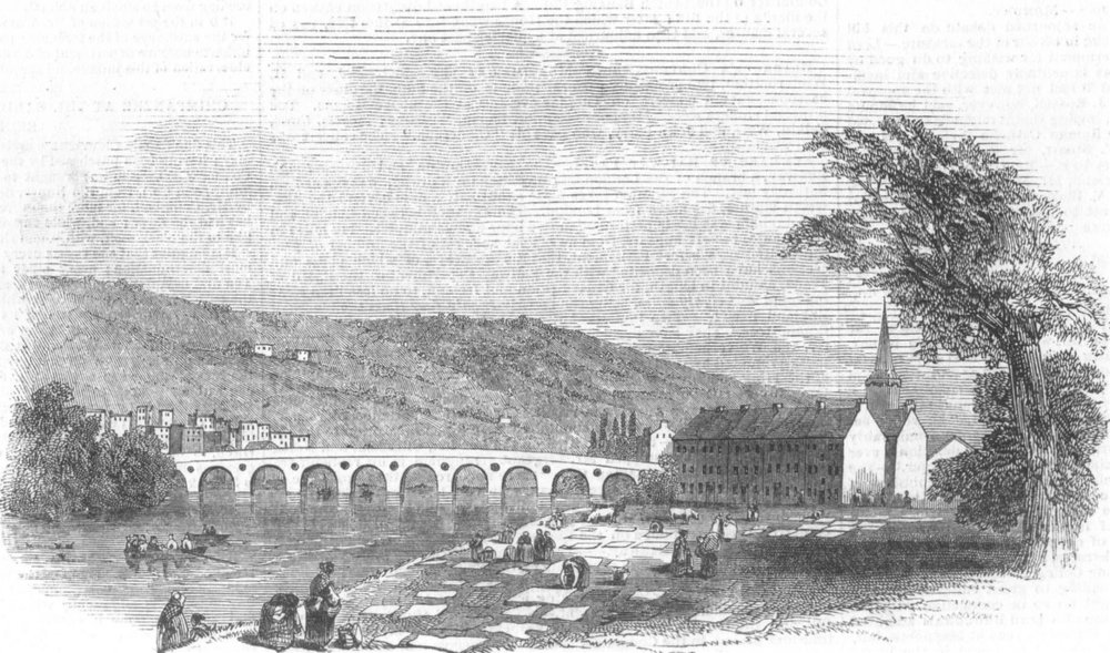 Associate Product The Inch of Perth, Scotland, antique print, 1845