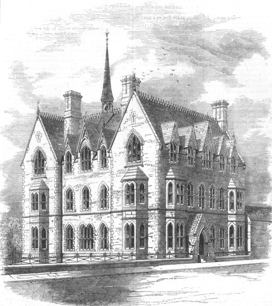 Associate Product LONDON. Missionaries chieldrens school, Blackheath, antique print, 1856