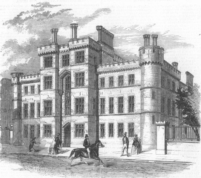 Associate Product LONDON. New depot for Royal London Militia, Finsbury, antique print, 1857