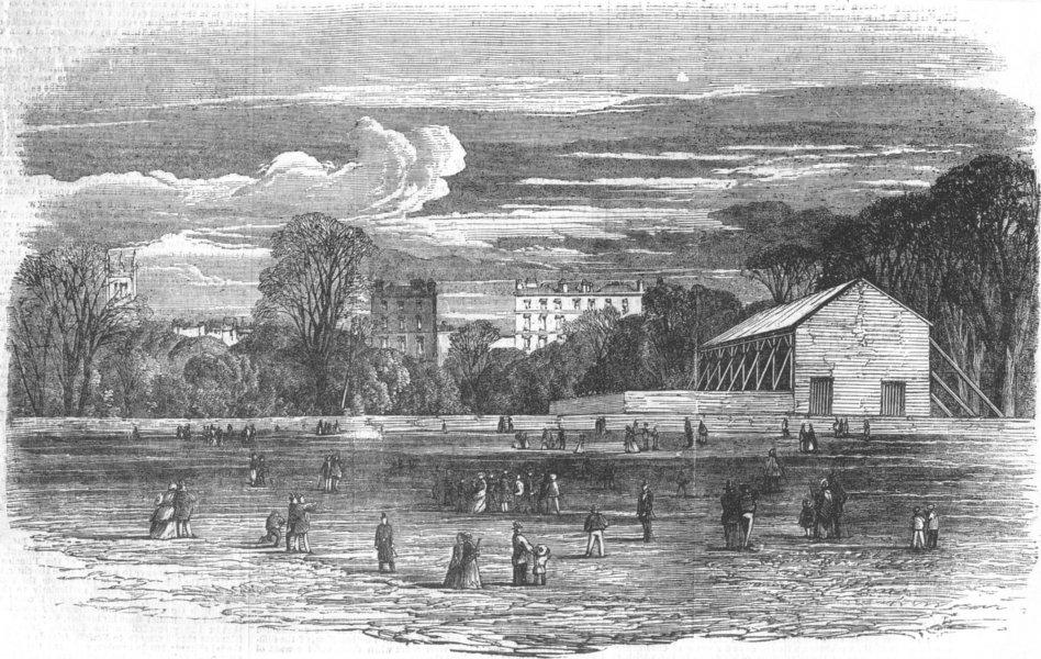 Associate Product LONDON. Fireworks for peace celebration, Hyde Park, antique print, 1856