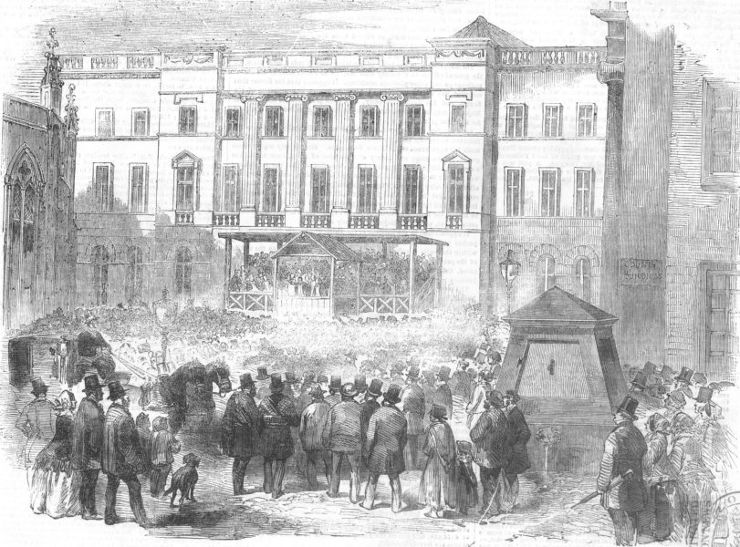 Associate Product SCOTLAND. The Edinburgh Election, antique print, 1856