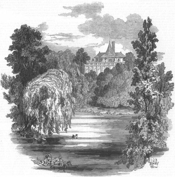 Associate Product LONDON. garden pavilion, Buckingham Palace, antique print, 1846