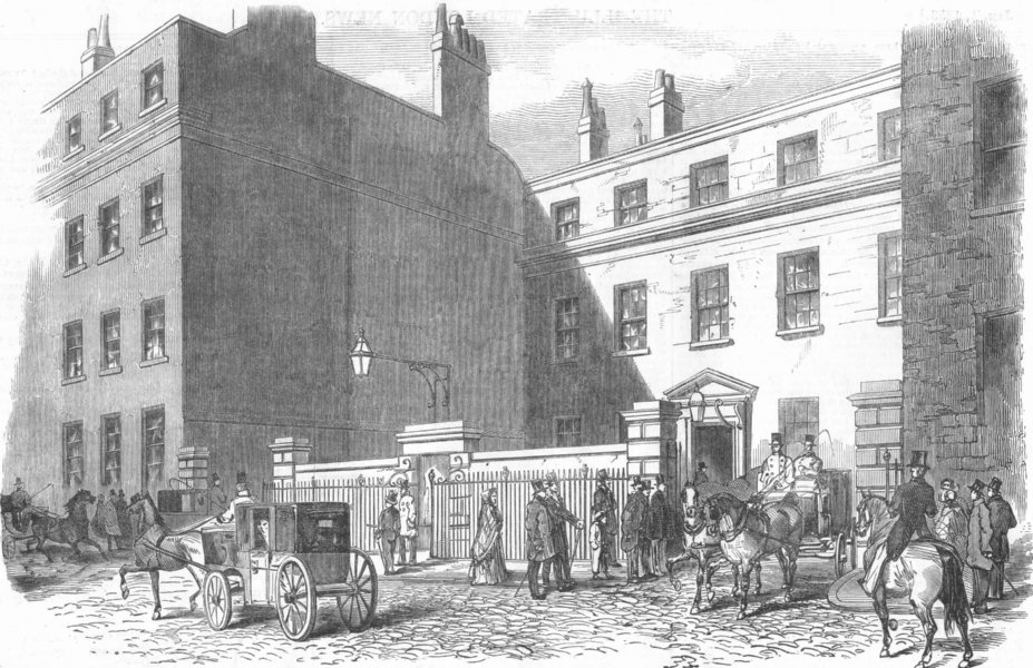 SCOTLAND. Argyll House, Earl of Aberdeen's House, antique print, 1853