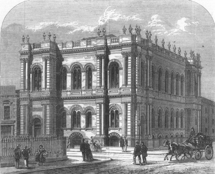 Associate Product LONDON. United Methodist free Church, Poplar, antique print, 1868