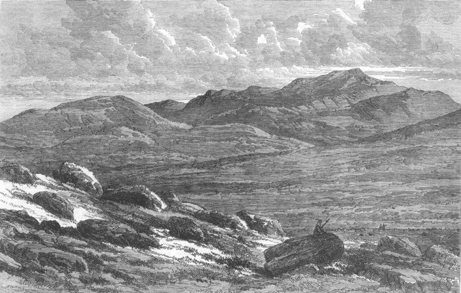 Associate Product SCOTLAND. View of Lochnagar, antique print, 1864