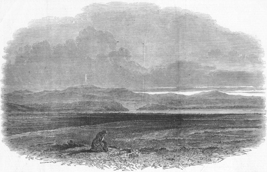 Associate Product SCOTLAND. Culloden Moor, antique print, 1849