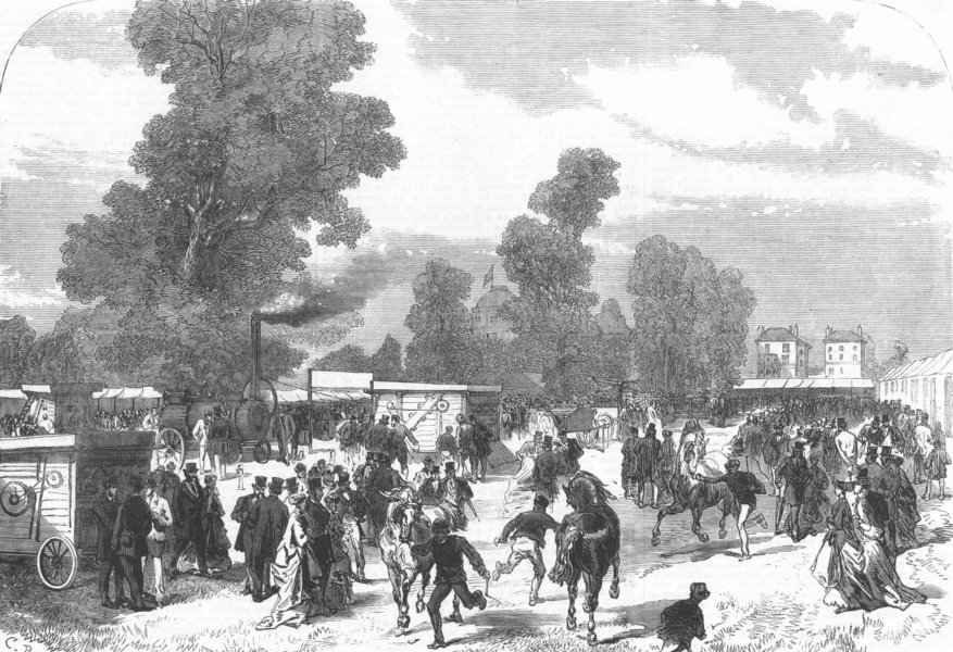 Associate Product GLOS. Agricultural Show at Cheltenham, antique print, 1867