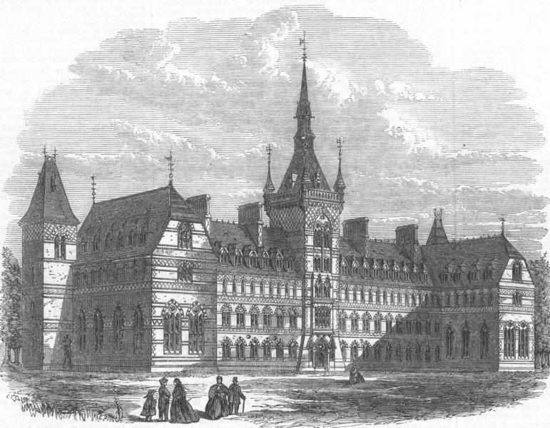Associate Product HOUNSLOW. Brunel University Osterley Campus, antique print, 1867