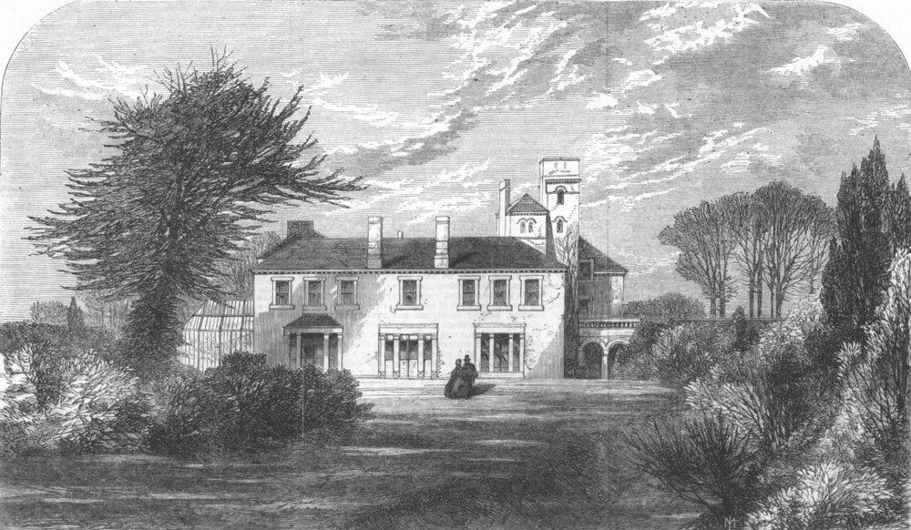 Associate Product SUSSEX. Dunford House, Midhurst(Cobden), antique print, 1865