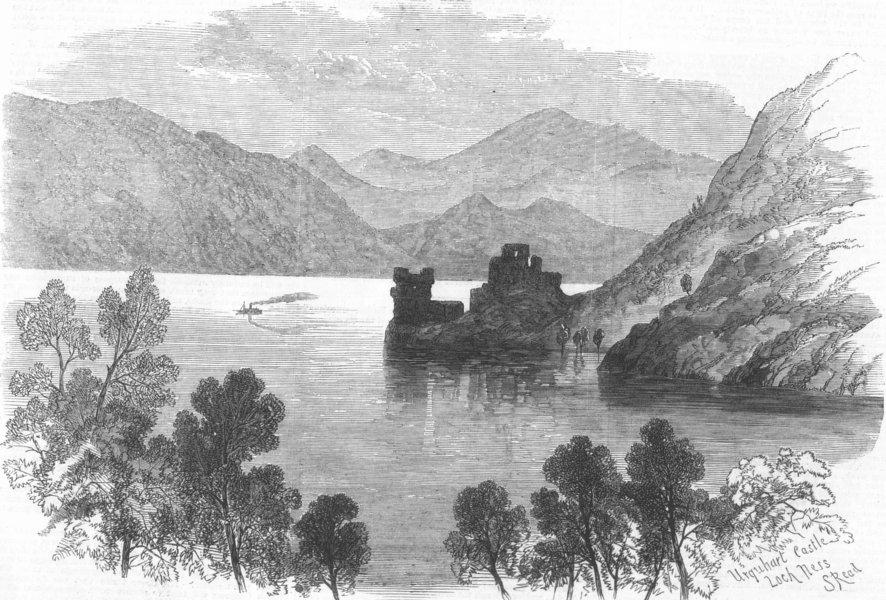 Associate Product SCOTLAND. Urquhart Castle, Loch Ness, antique print, 1868