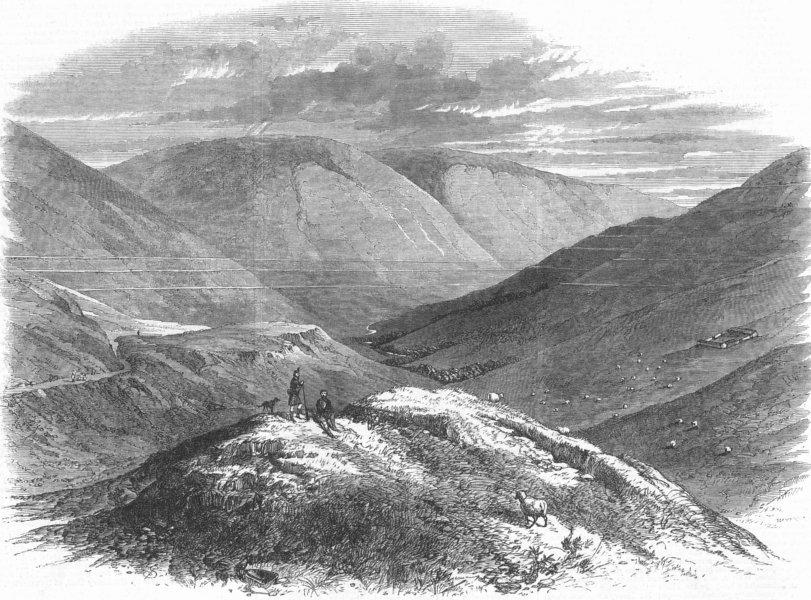Associate Product SCOTLAND. Parallel roads of Glen Roy, Scotland, antique print, 1863