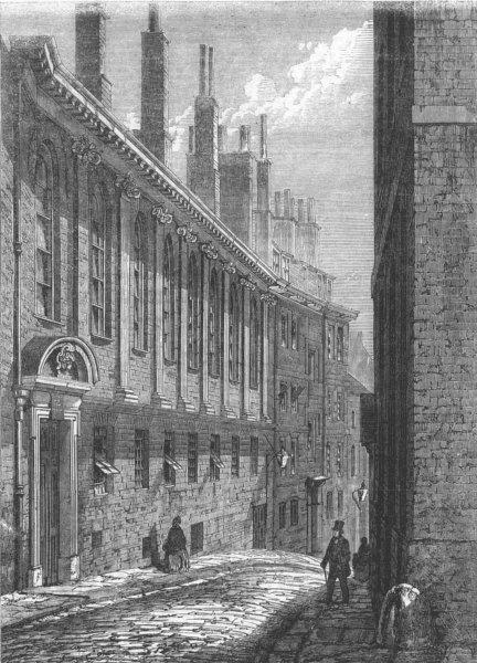 Associate Product LONDON. Merchant Taylors, Suffolk Lane, Cannon St, antique print, 1862