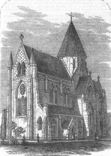 Associate Product SCOTLAND. St Saviours Church, Aberdeen Park, Highbury, antique print, 1867