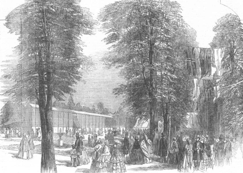 Associate Product LONDON. Crystal Palace, Royal wells Gdns, Cheltenham, antique print, 1854