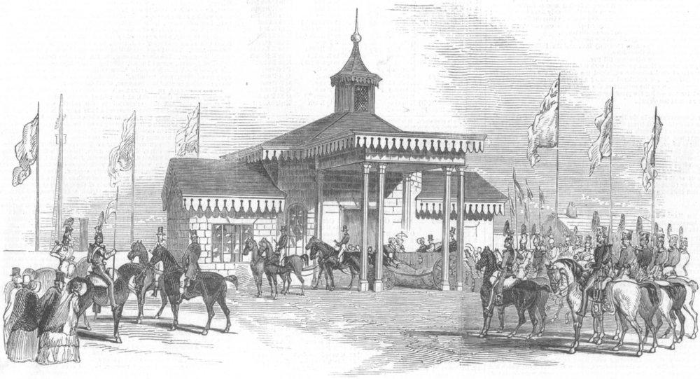Associate Product LONDON. Railway Pavilion, Tottenham, antique print, 1847