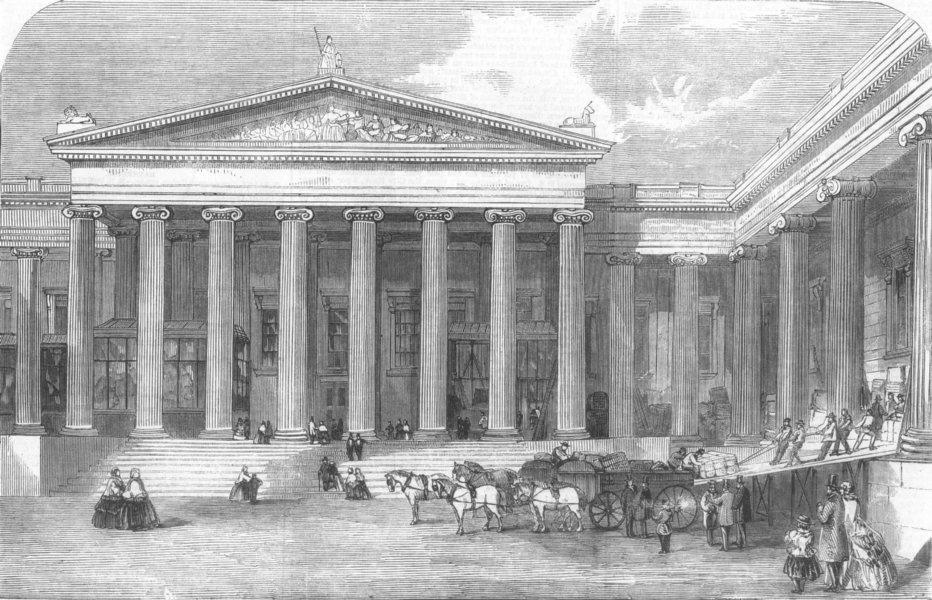 Associate Product LONDON. Tomb of Mausolus at British Museum, antique print, 1859