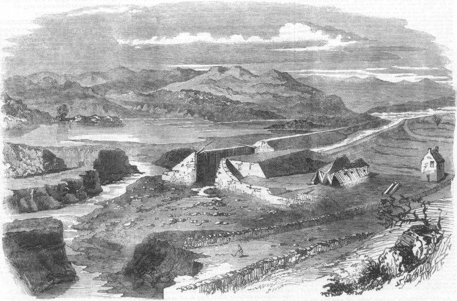 Associate Product SCOTLAND. Destruction of Crinan Canal at Dunardrie, antique print, 1859
