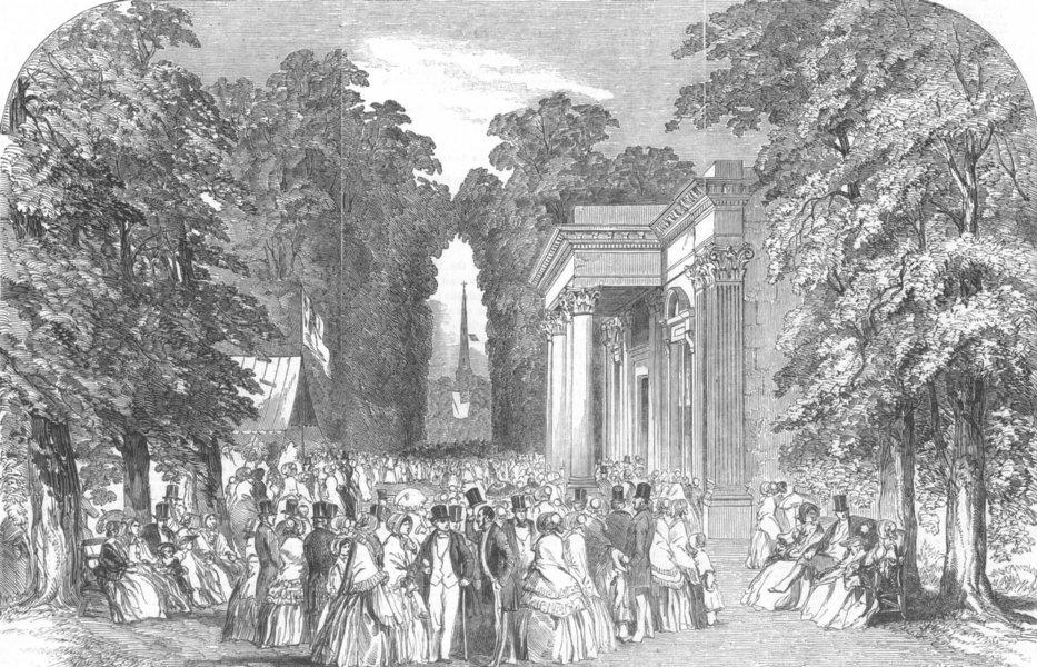 Associate Product LONDON. Royal well walk & pump-room, Hampstead, antique print, 1850