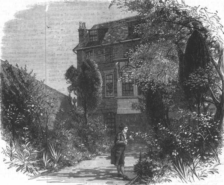 Associate Product LONDON. Hogarth's House at Chiswick, antique print, 1873