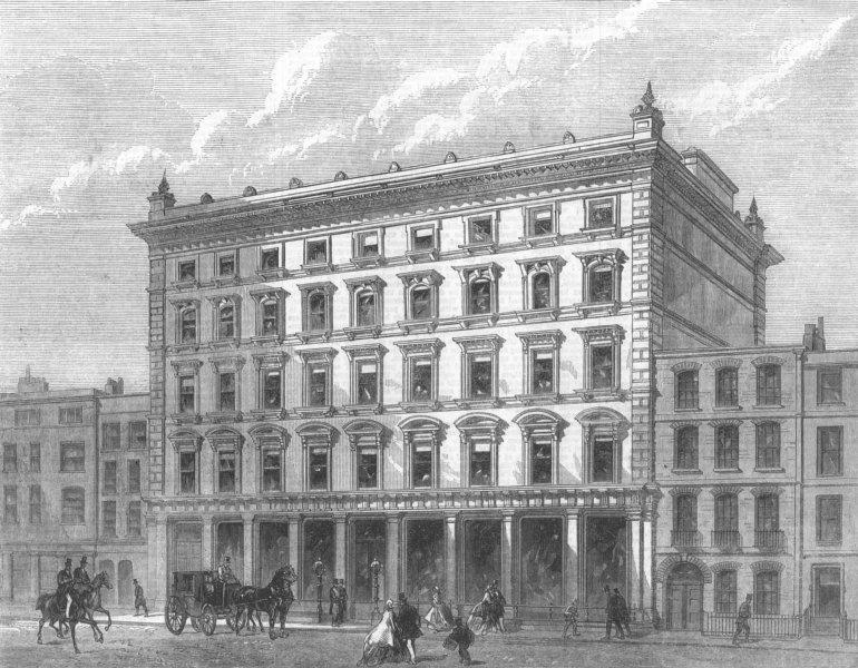 Associate Product LONDON. Lewis & Allenbys Silk Warehouse, Conduit St, antique print, 1866
