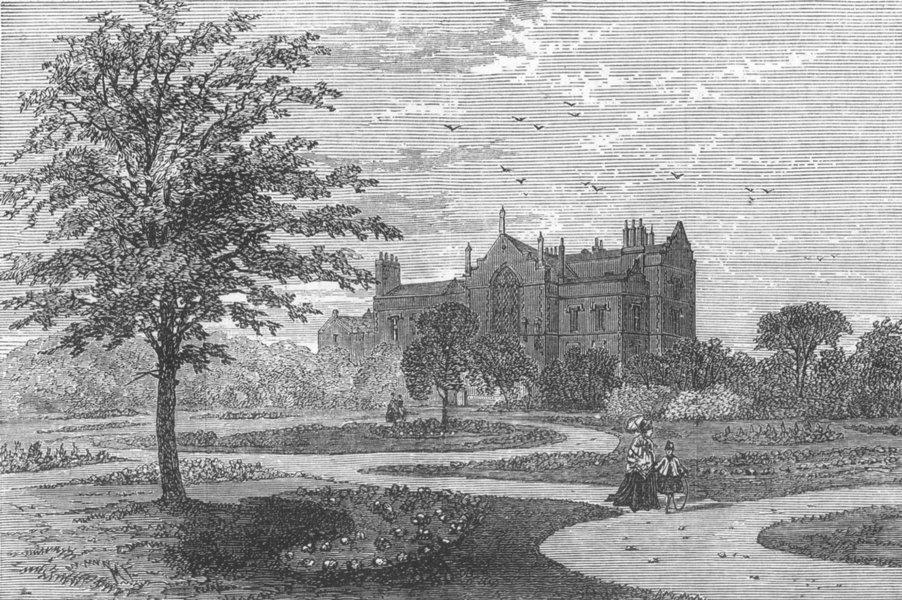 Associate Product LINCS. Stamford Public Park, Ashton-Under-Lyne, antique print, 1873