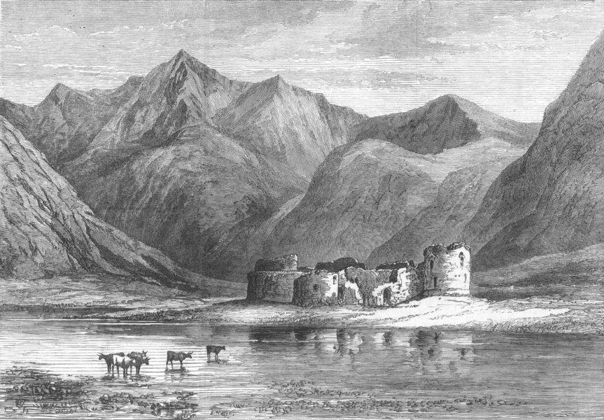 Associate Product SCOTLAND. Queen, Highlands. Inverlochy Castle ruins, antique print, 1873