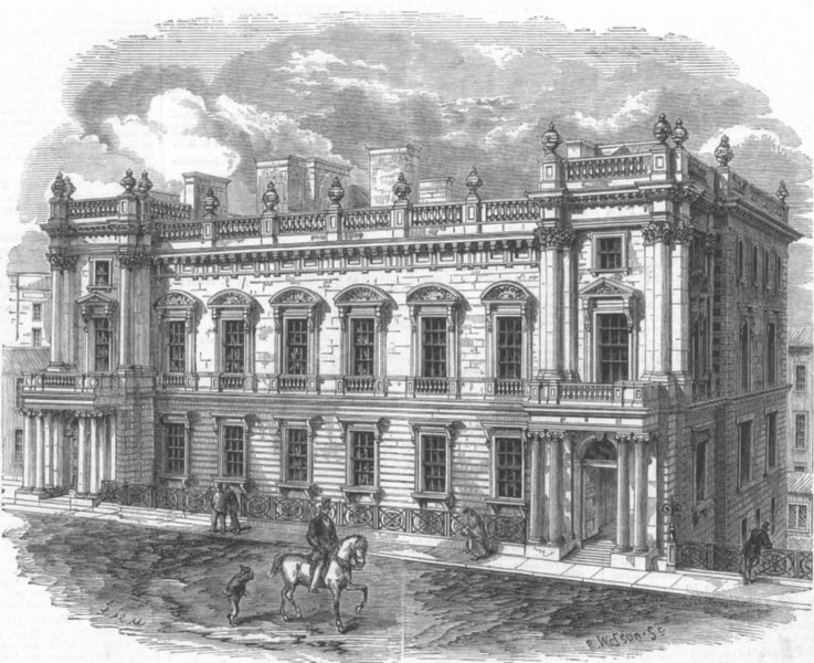 Associate Product SCOTLAND. New building for Sheriff Ct, Edinburgh, antique print, 1867
