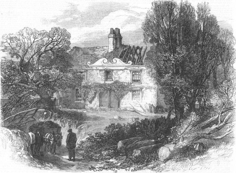Associate Product LONDON. Sir Richard Steeles Cottage, Haverstock Hill, antique print, 1867