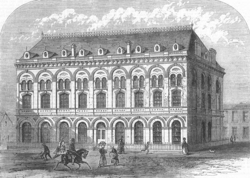 Associate Product LONDON. Guards Institute, Carlisle place, Pimlico, antique print, 1868